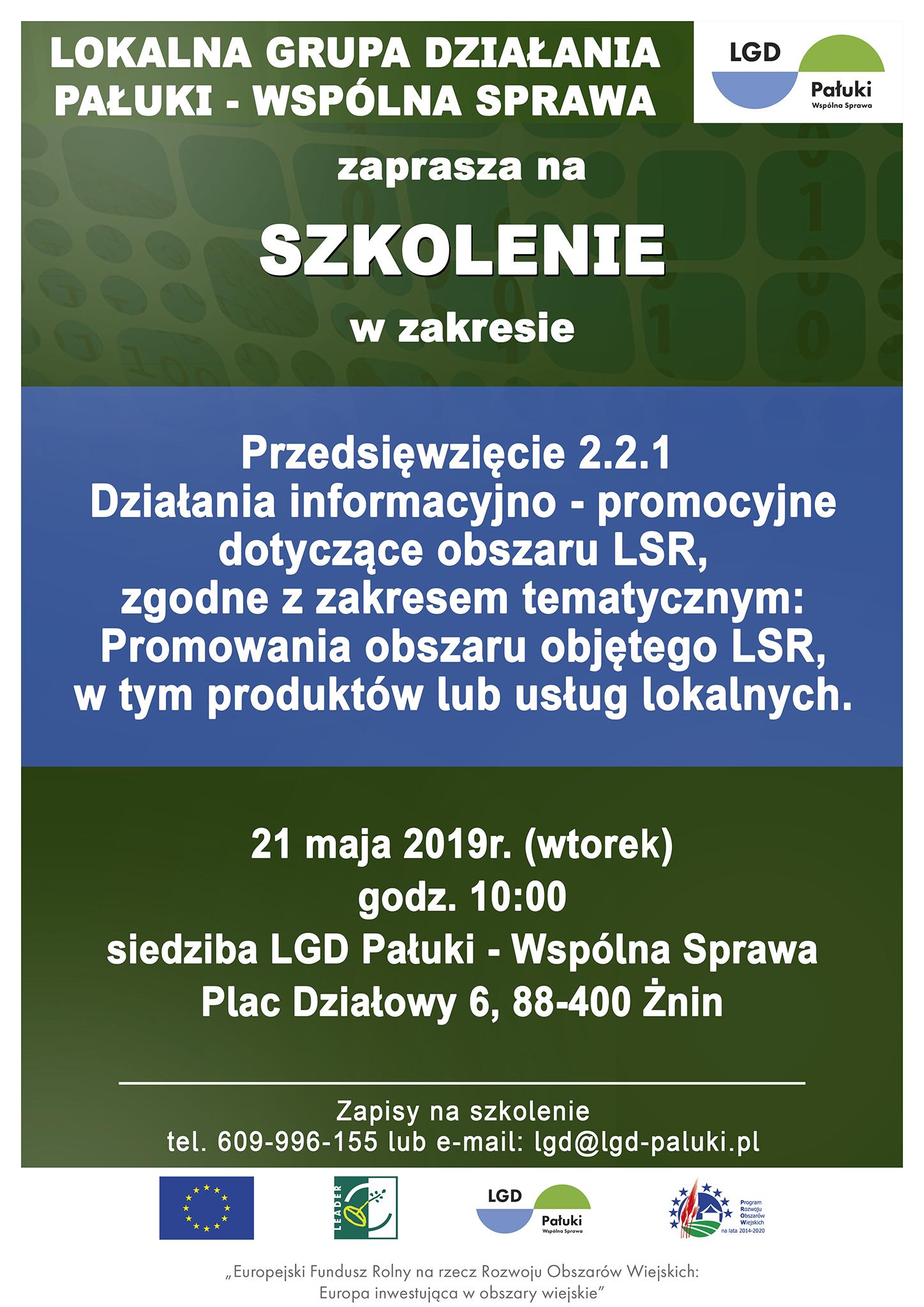 Plakat szkolenie promocja LGD