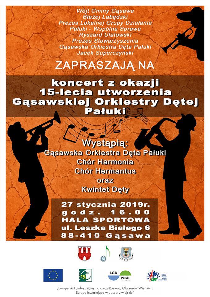 Plakat Gąsawska Orkiestra Dęta
